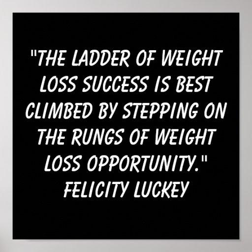 Éxito 1 de la pérdida de peso posters