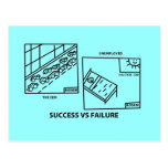 Éxito contra fracaso postales