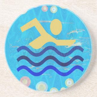 Éxito de la natación de NOVINO Posavasos Manualidades