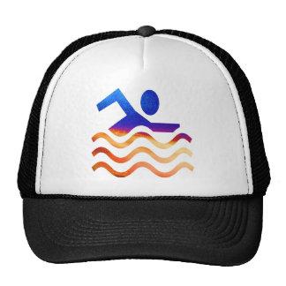 Éxito de la natación - mente fresca en épocas cali gorras de camionero