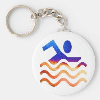 Éxito de la natación - mente fresca en épocas cali llavero