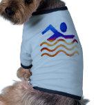 Éxito de la natación - mente fresca en épocas cali camisetas de mascota