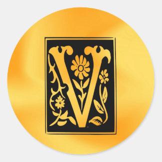 Éxito de la victoria de V-V Pegatina Redonda