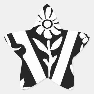 Éxito de la victoria de V-V Pegatina Forma De Estrella Personalizada