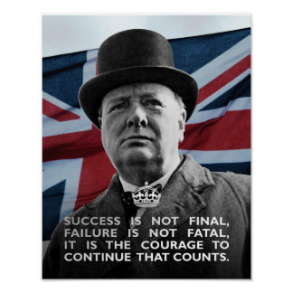 Éxito de Winston Churchill- Póster