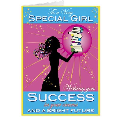 Éxito del chica de la estrella felicitacion