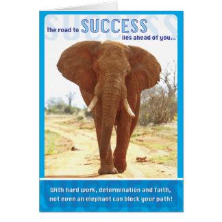 Éxito del elefante tarjetón