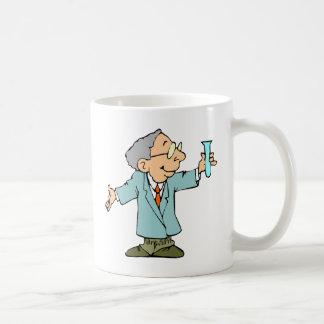 Éxito del experimento del científico del genio tazas de café