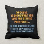Éxito - gatos en el Internet Almohadas