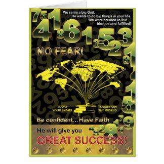 Éxito global tarjeta de felicitación