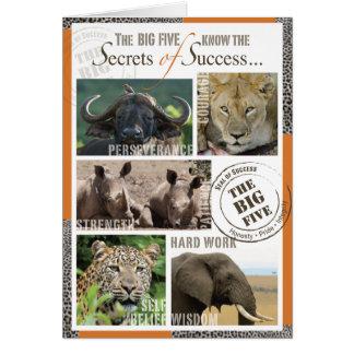 Éxito grande cinco tarjetón