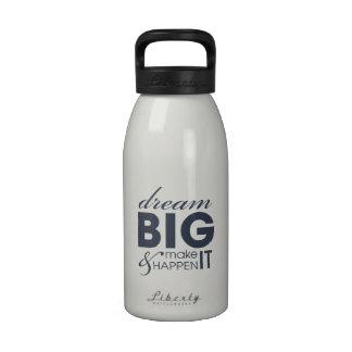 Éxito ideal de motivación del trabajo pequeña bote botellas de agua reutilizables