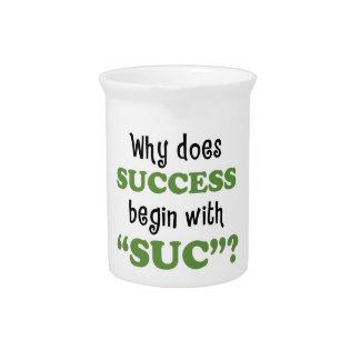 Éxito… o no jarras de beber