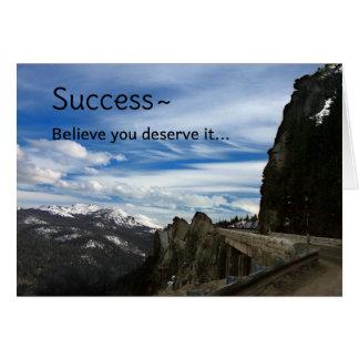 Éxito… Tarjeta De Felicitación
