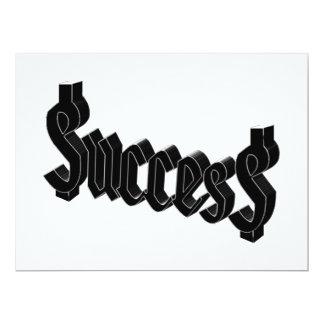 """Éxito = $ucces$ invitación 6.5"""" x 8.75"""""""