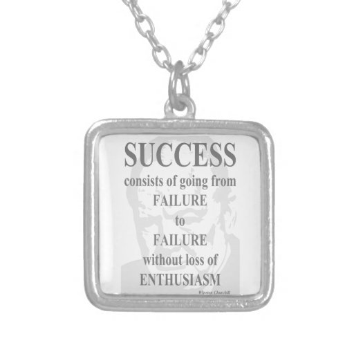 Éxito y entusiasmo colgante cuadrado