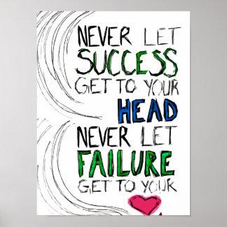 Éxito y fracaso póster