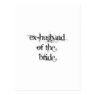 Exmarido de la novia postal