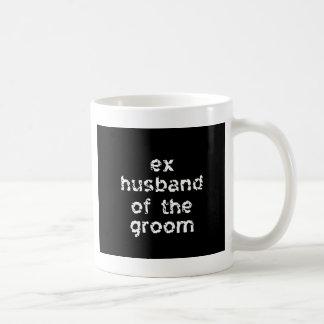 Exmarido del novio tazas de café
