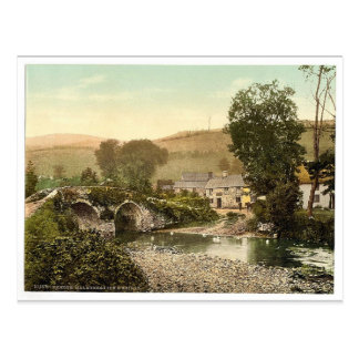 Exmoor, Malmsmead Inn and bridge, Doone Valley, Ly Postcard