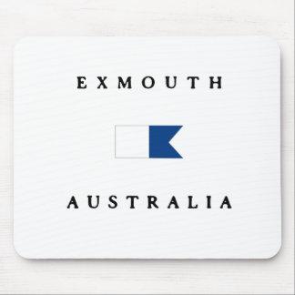 Exmouth Australia Alpha Dive Flag Mouse Pad