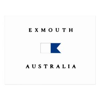 Exmouth Australia Alpha Dive Flag Postcard