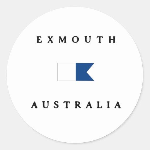 Exmouth Australia Alpha Dive Flag Sticker