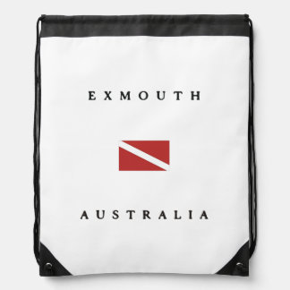 Exmouth Australia Scuba Dive Flag Drawstring Bag