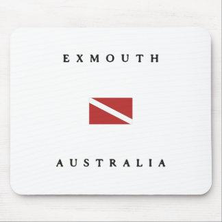 Exmouth Australia Scuba Dive Flag Mouse Pad