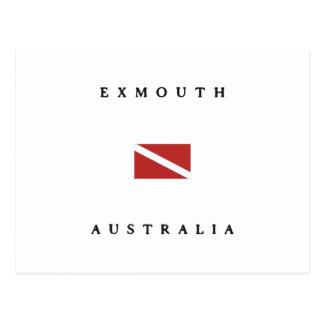 Exmouth Australia Scuba Dive Flag Postcard