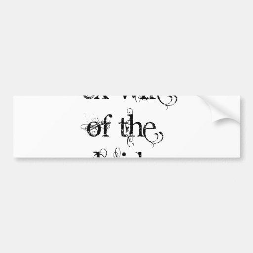 Exmujer de la novia etiqueta de parachoque