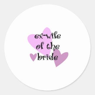 Exmujer de la novia pegatina redonda