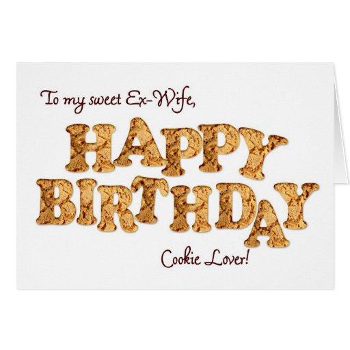 Exmujer, una tarjeta de cumpleaños para un amante