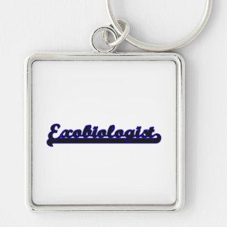Exobiologist Classic Job Design Silver-Colored Square Keychain