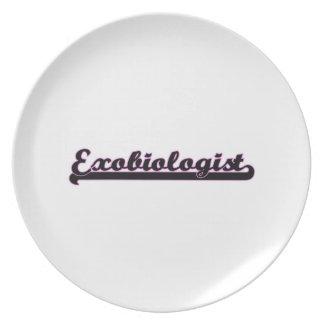 Exobiologist Classic Job Design Party Plate