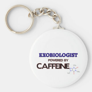 Exobiologist Powered by caffeine Basic Round Button Keychain