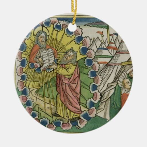 Éxodo 20 1-5 Moses que recibe los diez mandamiento Ornamentos De Navidad