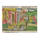 Éxodo 2 1-6 Moses que es flotado abajo del Nilo y Postales