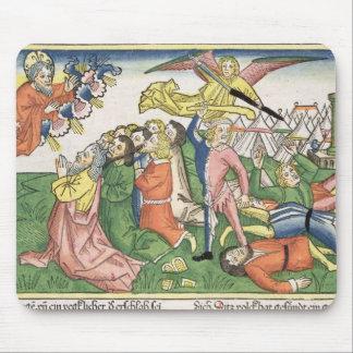 Éxodo 32 15-23 Moses que rompe las tabletas de pie Tapete De Ratón