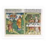 Éxodo 8 1-15 las siete plagas de Egipto: Moses Tarjeta Postal
