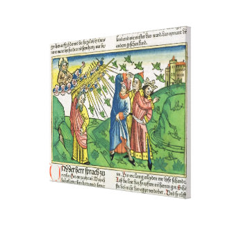 Exodus 10:1-20 The Seven Plagues of Egypt: the pla Canvas Print