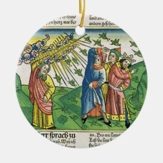 Exodus 10:1-20 The Seven Plagues of Egypt: the pla Ceramic Ornament