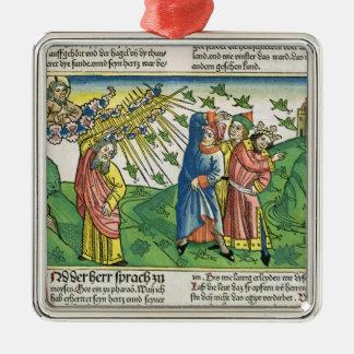 Exodus 10:1-20 The Seven Plagues of Egypt: the pla Metal Ornament