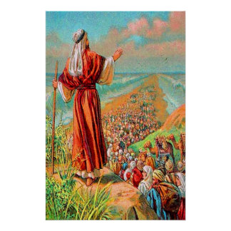 Exodus 14 Crossing the Sea on Dry Ground Poster