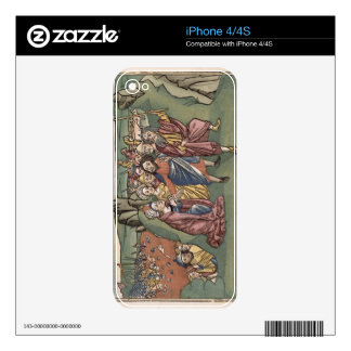 Exodus 14 Moses and the Israelites crossing the Re Decal For iPhone 4