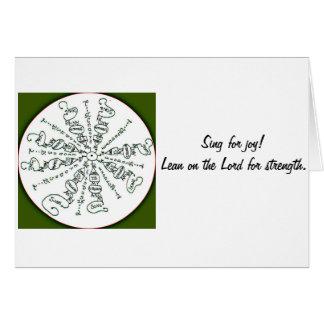Exodus 15:2 Mandala Card