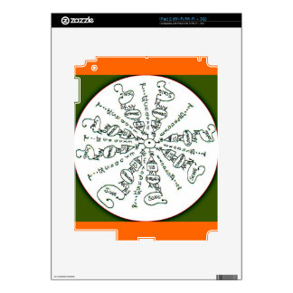 Exodus 15:2 Mandala Decals For iPad 2