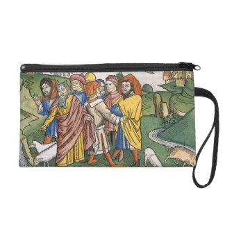 Exodus 17 1-7 Moses makes the water flow from the Wristlet Purse