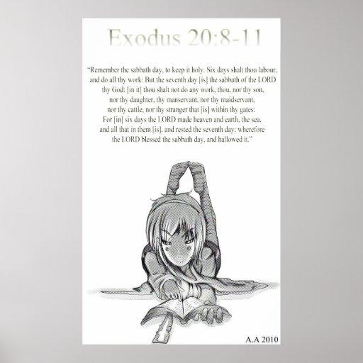 Exodus 20: 8-11 print