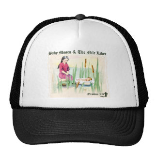 Exodus 2:3 - Baby Moses on the Nile River Trucker Hat
